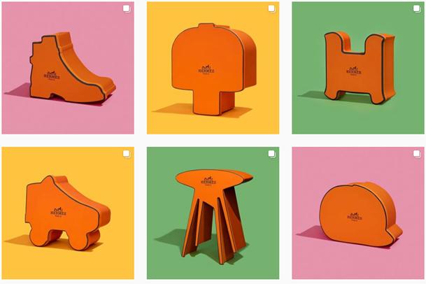 """Campaña Hermès """"Qué hay en la Caja """"Fuente: LuxurySociety"""