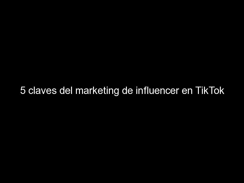 5 claves del marketing de influencer en tiktok 426 - 5 claves del marketing de influencer en TikTok