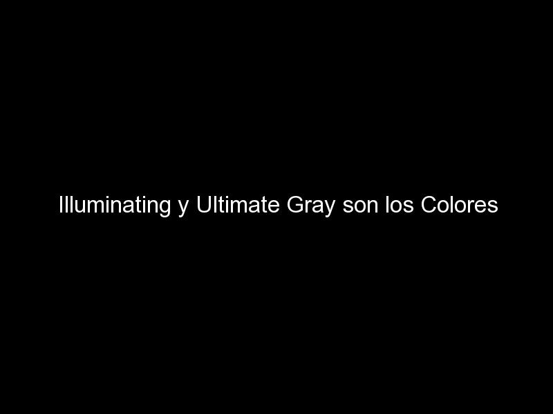 illuminating y ultimate gray son los colores pantone del ano 2021e280a8 879 - Illuminating y Ultimate Gray son los Colores Pantone del Año 2021