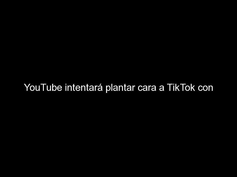 youtube intentara plantar cara a tiktok con shorts 567 - YouTube intentará plantar cara a TikTok con Shorts